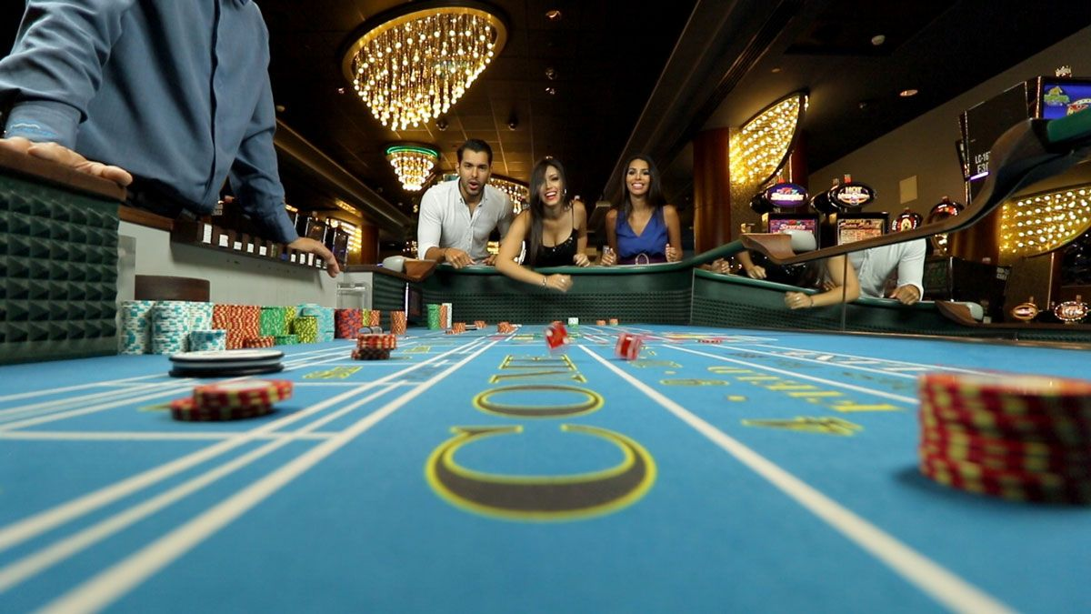 a group playing games at the Casino del Mar at La Concha Resort