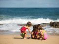kids on condado beach